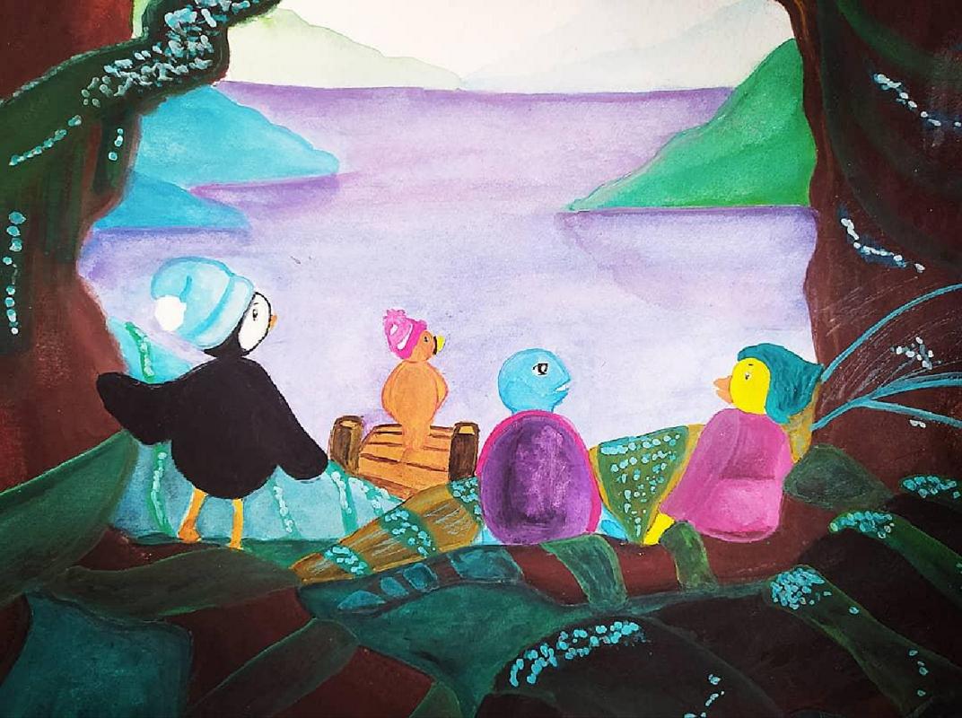 Illustration Jeunesse - Forêt Mystique - Gouache