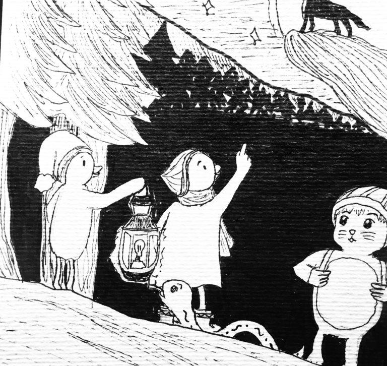 "Inktober 2019: dessin sur le prompt ""Wolf"".Inktober 2019: dessin sur le prompt ""Wolf""."
