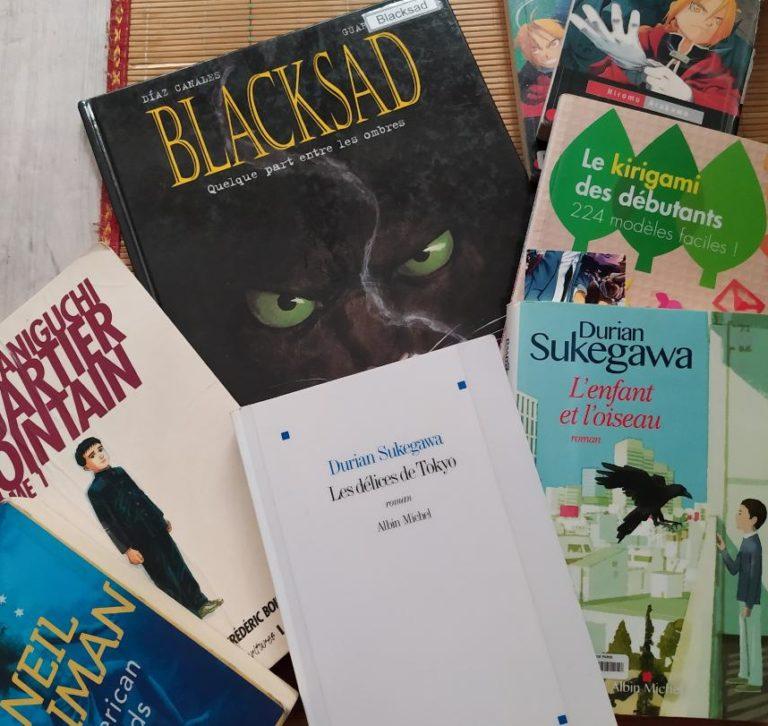 Bookhaul bibliothèque: tous les livres assemblés et prêts pour la photo de couverture et l'article!