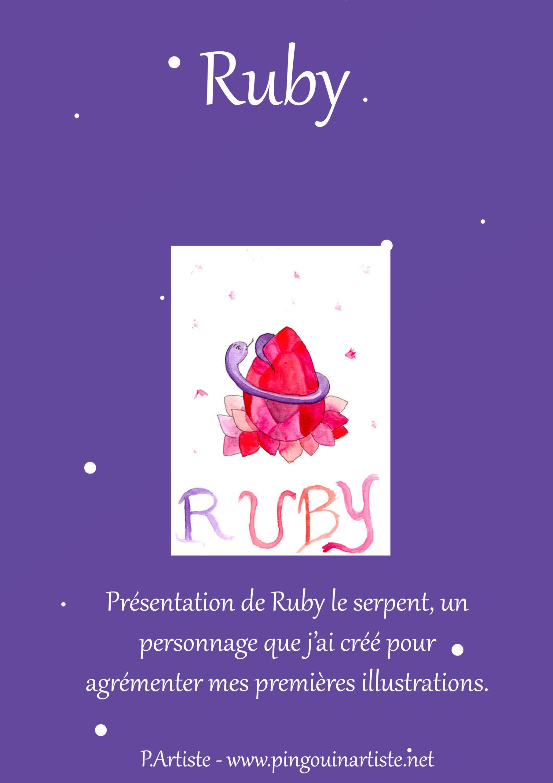 Template de mon article sur le personnage de Ruby.